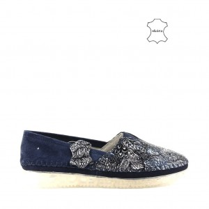 SLIP ON FILIPPO DP2147/21 NV NAVY SKÓRA